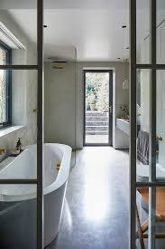 glas stahl wand zum badezimmer in hellen bild kaufen