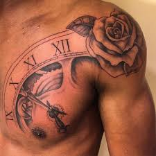 Rose Tattoo On Shoulder Tattoos Chest