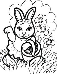 Free Online Printable Bunny Coloring Pages Easter Colouring Sheets Medium Size