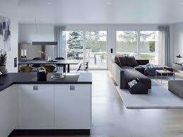 modernes wohnen mit offener küche wohnzimmer esszimmer