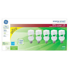 ge 75 watt cfl light bulb 5 pack soft white target
