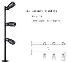 3w jewelry display led lights for cabinet with