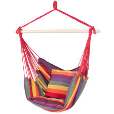 Living Accents Folding Hammock Chair by Hammock Hanging Chair Porch Swing Seat Patio Camping Portable