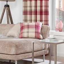 Just Contempo Tartan Wool Like Cushion Cover Red 17x17 Inches Amazoncouk Kitchen Home