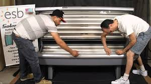 esb tanning bed bench acrylic removal and re installation front