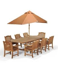 Furniture Bristol Outdoor Teak 9 Pc Dining Set 87 X 47