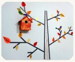 Pretty And Easy DIY Washi Tape Wall Decor Idea In Autumn Style