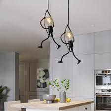 2x pendelleuchte vintage deckenleuchte e27 eisen kronleuchter hängeleuchte für esszimmer schlafzimmer wohnzimmer foyer küche