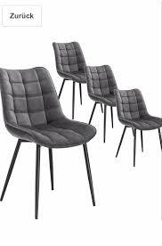 neu woltu 4 oder 6 esszimmerstühle dunkelgrau küchenstuhl sessel