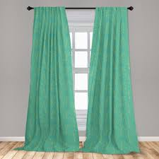 gardine fensterbehandlungen 2 panel set für wohnzimmer schlafzimmer dekor abakuhaus blatt tropical monstera und spots kaufen otto