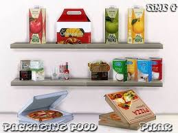 Packaging Food Decor Set By Pilar At TSR Via Sims 4 Updates