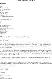 Computer Programmer Cover Letter Awesome Collection Of Sample With