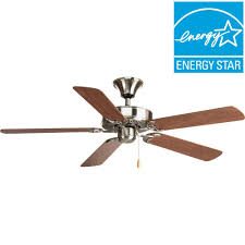 Ac 552 Ceiling Fan Wiring by Progress Lighting Airpro Builder 52 In Brushed Nickel Ceiling Fan