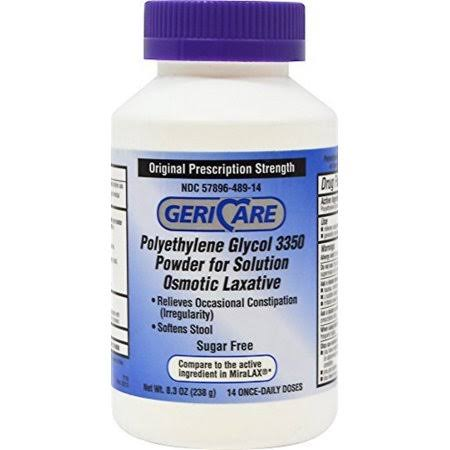Geri Care Polyethylene Glycol 3350 Powder Solution Osmotic Laxative - 238g
