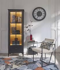 vitrine mit 1 tür schwarz mit sicherheitsglas maisons du monde