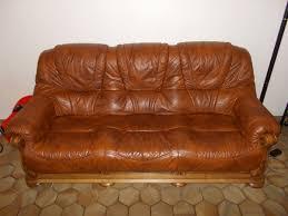 canapé cuir fauve canape cuir marron 2 clasf