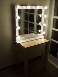 plain design wall vanity mirror with lights awesome inspiration