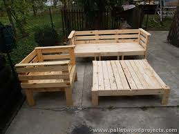 Pallet Patio Furniture Plans by Outdoor Pallet Sofa Plans Pallet Wood Projects