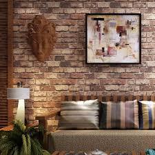 rot ziegel stein 3d vinyl geprägte waschbar peeling tapete wohnzimmer schlafzimmer home decor wand papier wandbild wand abdeckt