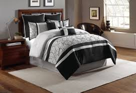 Bed Comforter Set by 8 Piece Blakely Black Gray Comforter Set