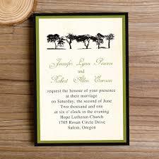 Cheap Green Trees Rustic Wedding Invitations IWI252