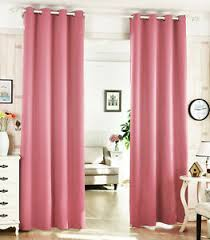 details zu 2er set gardine blickdicht ösenschal thermo vorhang 135x225cm rosa vh5866rs 2