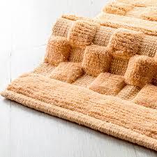 cipì badezimmer 2 teppichboden set 100 baumwolle softy pfirsich