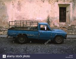 Blue Pick Up Truck Antigua Guatemala Central America 2004 Stock ...