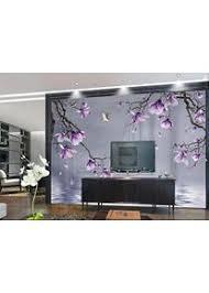 tapete 3d fototapeten lila magnolie blume schmetterling