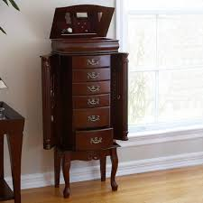 Amazon.com: Southern Enterprises Jewelry Armoire, Classic Mahogany ... Jewelry Armoires Bedroom Fniture The Home Depot Armoire Mirror Modern Style Belham Living Hollywood Mirrored Locking Wallmount Mele Co Chelsea Wooden Dark Walnut Amazoncom Powell Classic Cherry Kitchen Ding Natalie Silver Top Black Options Reviews World Southern Enterprises Mahogany