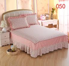 Home Beige Pink Green Bed Skirt Mattress Cover Petticoat Twin Full