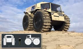 100 Build Mini Monster Truck Russian Designer Reveals 65k Sherp ATV Offroader Thats Just 11