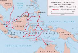 Japanese Attacks Along The Malay Barrier
