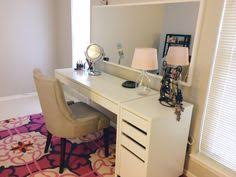Micke Desk With Integrated Storage Hack by Ikea Micke Desk With Integrated Storage As Vanity Desk With Alex