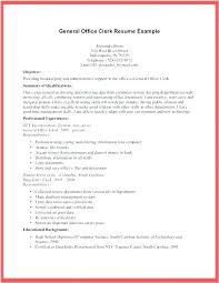 Resume Example For General Clerk Together With Office Assistant Responsibilities Templates