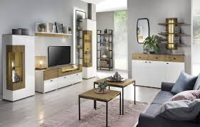 casa padrino corner showcase white brown 65 4 x 40 x h 202 cm modern illuminated solid wood showcase cabinet living room cabinet living room