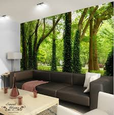 green forest nature landscape wall paper wall print decal home