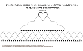 Free Printable Queen Of Hearts Crown Template