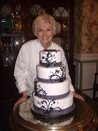 Black And Purple Wedding Cake For McDade Reception At Ryan Nicholas Inn
