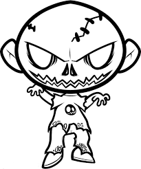 Free Zombie Coloring Pages For Kids