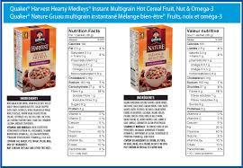 QuakerR Hearty MedleysR Fruit Nut Omega 3 Instant Multigrain Hot Cereal