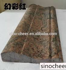 Multi Color Red Granite Border Moulding Design