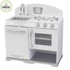 cuisine enfant kidkraft kidkraft cuisine enfant blanc retro 53234