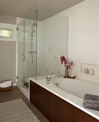 Tiling A Bathtub Skirt by Portland Bath Remodeling Cost Bathroom Midcentury With Walnut Tub
