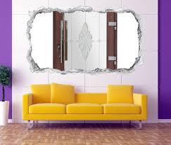 3d wandtattoo durchbruch tür glastür eingang wand aufkleber wanddurchbruch sticker selbstklebend wandbild wandsticker wohnzimmer 11o2367