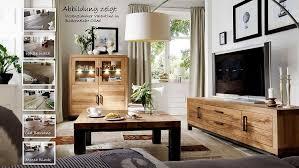 valentino wohnzimmer set 3 teilig balkeneiche massiv casade mobila
