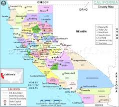 Counties In County Map Northern California Cities Towns