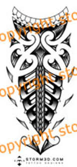 Maori Forearm Tattoo Design With Spearheads