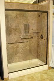 Bathtub Doors Oil Rubbed Bronze by Mocha Travertine With Oil Rubbed Bronze Shower Door Oasis Shower