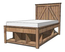 Ana White Rustic Headboard by Ana White Plans Build A Brookstone Twin Storage Bed Like This